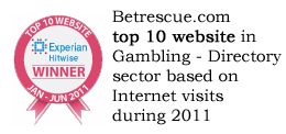 Experian Hitwise top 10 gambling site award 2011