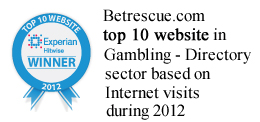 Experian Hitwise top 10 gambling site award 2012